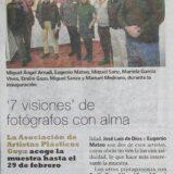 """Articulo prensa de Colectiva de fotografias """"7 visiones"""""""