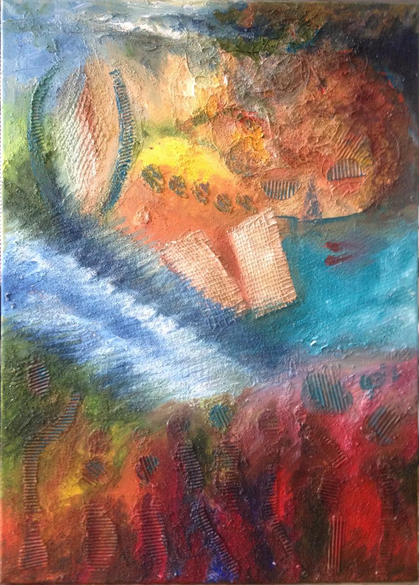 Escuchando a Novella de Andréa - Pintura - Miguel Sanza