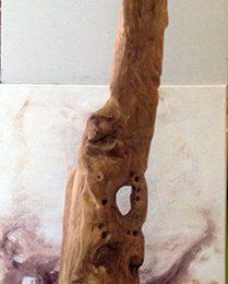 Aullando a la luna - escultura - Miguel Sanza
