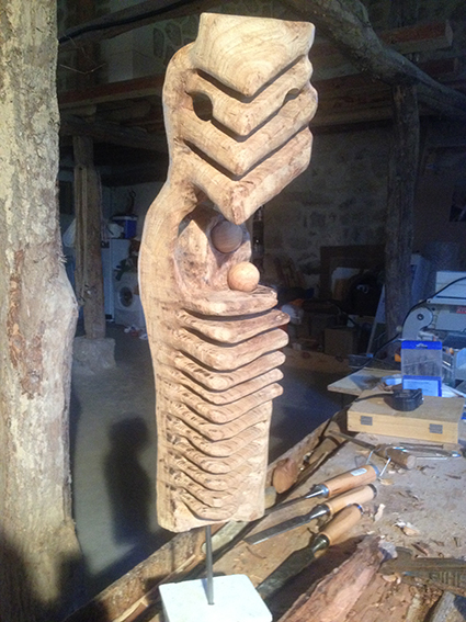 Madre rapaz - Miguel Sanza - Escultura